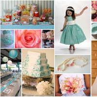 pink, blue, Inspiration board, Tiffany blue