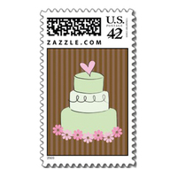 Stationery, Cakes, cake, Invitations, Stamps, Envelopes, Wedding cake, Postage, Wedding stamps, Wedding postage, Ever after postage