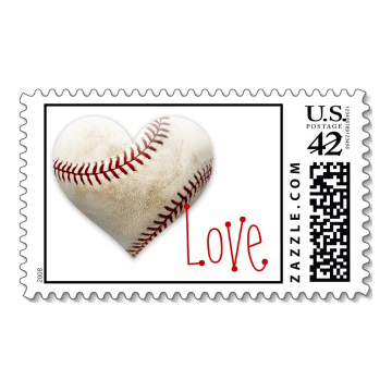 Stationery, Invitations, Baseball, Love, Stamps, Envelopes, Postage, Wedding stamps, Wedding postage, Ever after postage