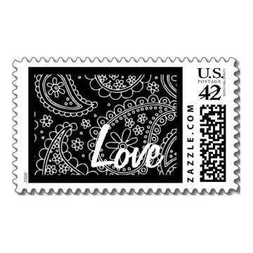 Stationery, Invitations, Paisley, Love, Stamps, Envelopes, Postage, Wedding stamps, Wedding postage, Ever after postage