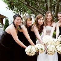 Flowers & Decor, Bridesmaids, Bridesmaids Dresses, Fashion, white, blue, Bridesmaid Bouquets, Flowers, Wedding, Bridal party, Bouquets, California, Ritz carlton, San, Francisco, San francisco, Flower Wedding Dresses