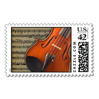 Stationery, Invitations, Violin, Stamps, Envelopes, Postage, Wedding stamps, Wedding postage, Ever after postage
