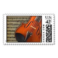 Stationery, Invitations, Violin, Stamps, Envelopes, Postage, Wedding stamps, Wedding postage, Ever after postage
