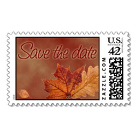 Stationery, Invitations, Save-the-Dates, Save the date, Stamps, Envelopes, Autumn, Postage, Wedding stamps, Wedding postage, Ever after postage