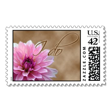 Stationery, Invitations, Stamps, Envelopes, Dahlia, Postage, Wedding stamps, Wedding postage, I do, Ever after postage