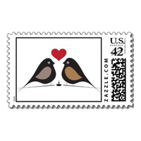 Stationery, Invitations, Love, Stamps, Envelopes, Postage, Wedding stamps, Wedding postage, Ever after postage, Love birds