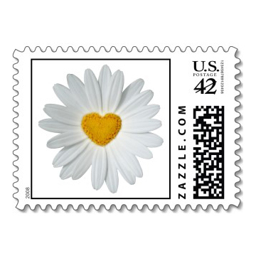 Stationery, Invitations, Daisy, Stamps, Envelopes, Postage, Wedding stamps, Wedding postage, Ever after postage