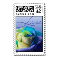 Stationery, Invitations, Rose, Stamps, Envelopes, Postage, Wedding stamps, Wedding postage, Ever after postage, Ocen rose