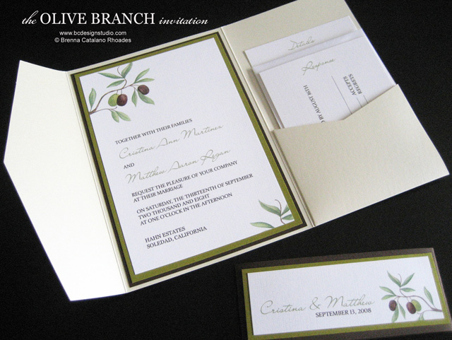 Stationery, invitation, Rustic, Rustic Wedding Invitations, Invitations, Custom, Branch, Design, Olive, Brenna catalano bc design studio