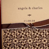 Stationery, Paper, brown, Rustic, Invitations, Wedding, Spanish