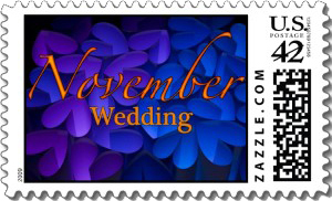 purple, blue, Stamp, Postage, Peter wuebker photography design, November wedding