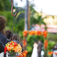 Ceremony, Flowers & Decor, yellow, orange, red, Ceremony Flowers, Rustic, Flowers, Rustic Wedding Flowers & Decor, Wedding, Spanish