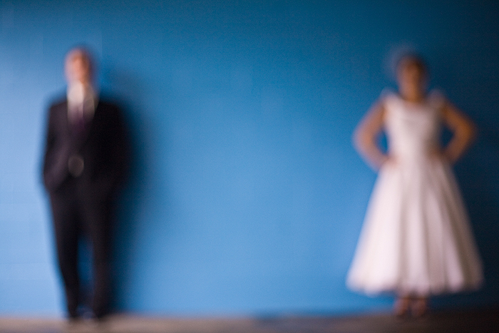 Bride, Groom, Portrait, Of, Out, Focus, Seattle, Rain, Jelani memory photography