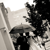 Bride, Groom, Seattle, Rain, Overcast, Jelani memory photography
