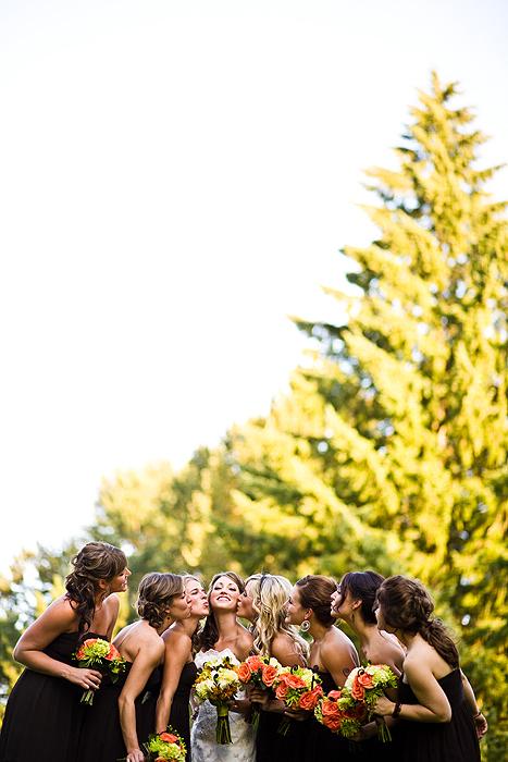 Bridesmaids, Bridesmaids Dresses, Fashion, Bride, Kiss, Jelani memory photography
