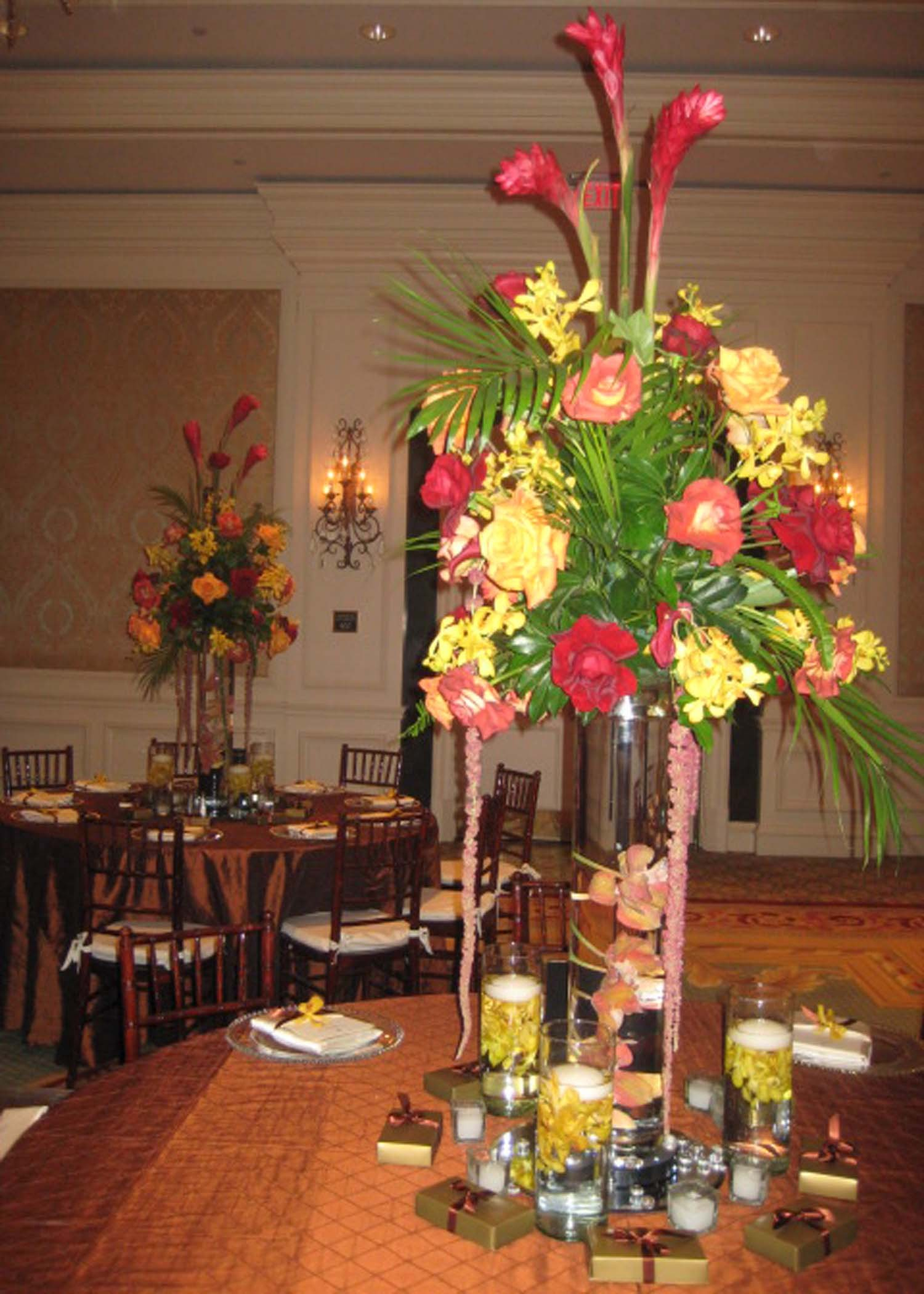 Reception, Flowers & Decor, Centerpieces, Centerpiece, Tropical, Flowers by fudgie