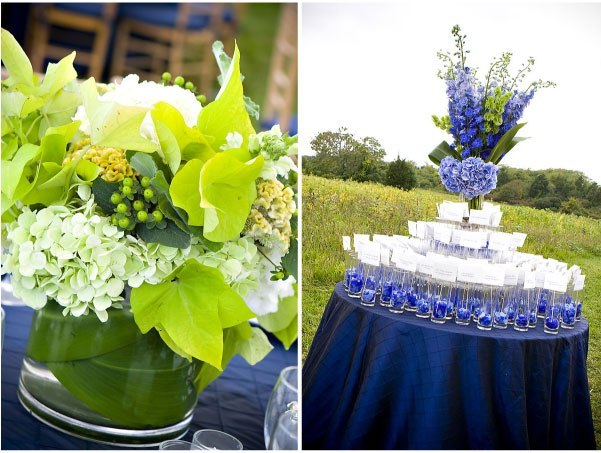 blue, green, Centerpiece