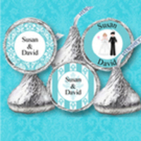Reception, Flowers & Decor, Favors & Gifts, blue, Favors, Wedding, Tiffany, Kisses, Accent the party, Hershey