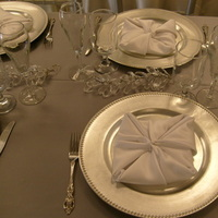 Registry, ivory, silver, Drinkware, Champagne, Tulip, Glasses, Chargers