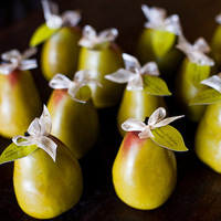 Favors & Gifts, Stationery, green, Favors, Place Cards, Placecards, Pears, Simply natural events