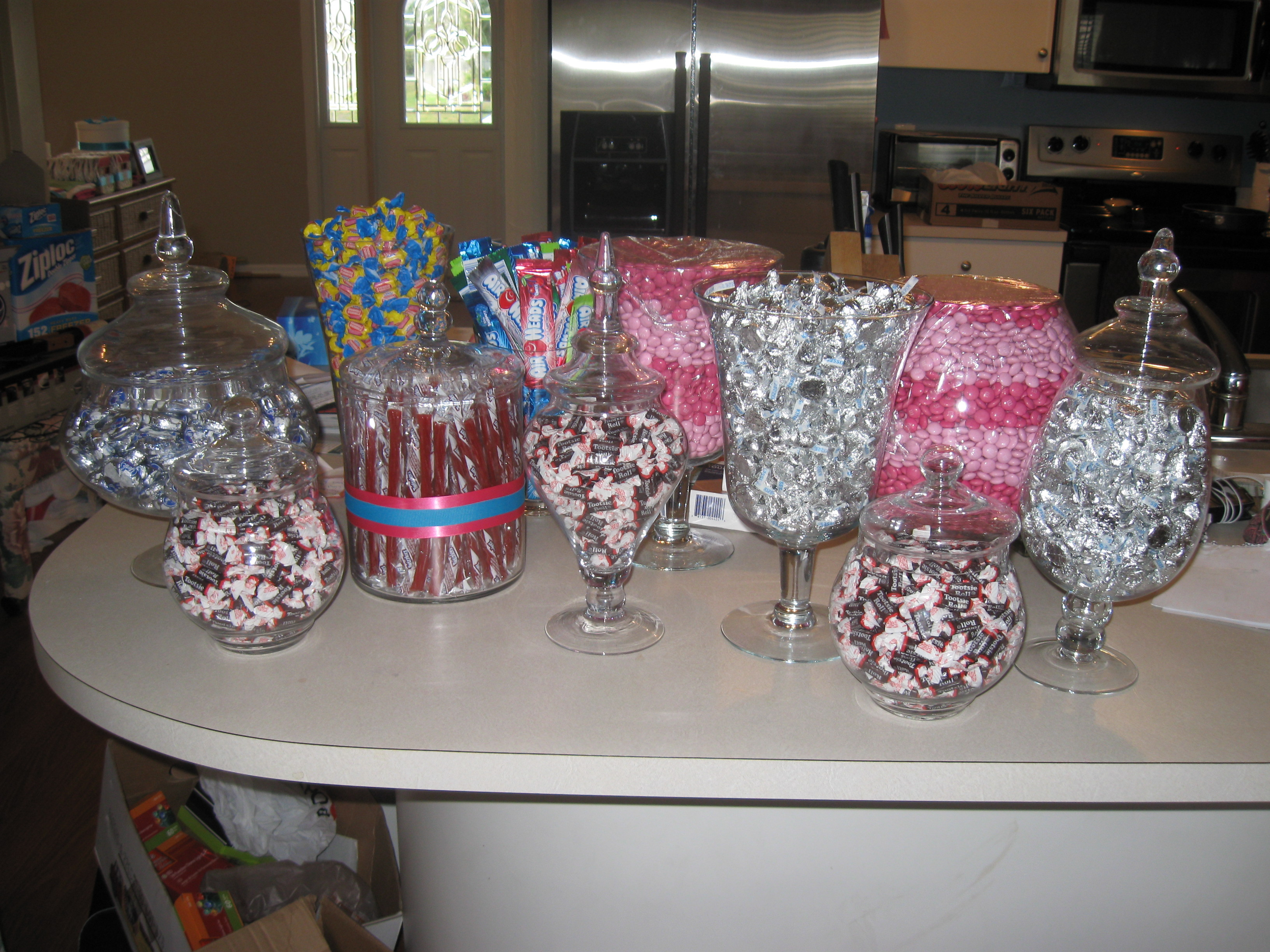 pink, Candy, Candy buffet