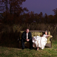 Bride, Groom, Wildflowers, Couch, Pavel studios photography