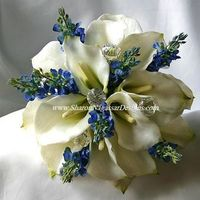 Flowers & Decor, white, blue, silver, Flowers, Wedding, Calla, Lily, Lupines, Sharon nagassar designs