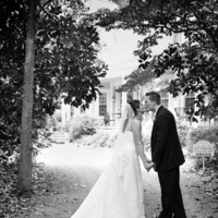 Bride, Groom, Portrait, Couple, Kissing, Phipps photo