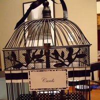 Birdcage, Card, Holder