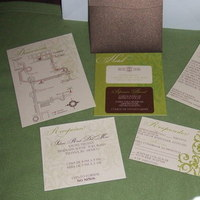 DIY, Stationery, brown, Invitations
