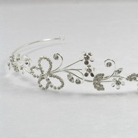 Jewelry, silver, Tiaras, Butterfly, Beautiful, Rhinestone, Sparkly, Lou lou belles