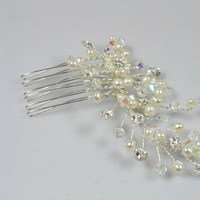 Beauty, Comb, Accessories, Hair, And, Crystal, Pearl, Combs, Small, Lou lou belles