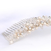 Beauty, Jewelry, silver, Tiaras, Comb, Accessories, Hair, And, Tiara, Crystal, Pearl, Plated, Lou lou belles