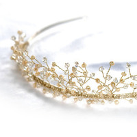 Jewelry, Tiaras, And, Tiara, Crystal, Pearl, Lou lou belles