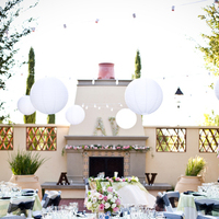 Reception, Flowers & Decor, pink, green, Garden, Asian, Lanterns, Outdoors