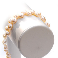 Jewelry, white, Bracelets, Wedding, Pearls, Bracelet, Pearl, Lou lou belles, Flat