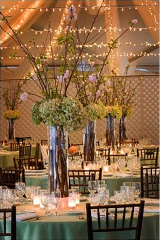 Reception, Flowers & Decor, Decor, pink, green, Centerpieces, Garden, Wedding, California, Malibu, Lights