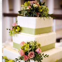 Cakes, cake, Ribbon Wedding Cakes, Square Wedding Cakes, Square, Ribbon