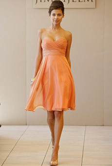 orange, Bridesmaid