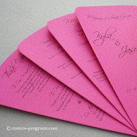 Stationery, Ceremony Programs, Program, Fan, Custom programs, Fuschia