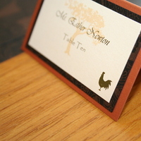 Stationery, Place Cards, Cards, Table, Placecards, With, Custom programs, Icons, Meal, Pennyite
