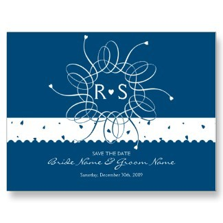 white, blue, Wedding, Bridal, Modern, Flower, Card, Custom, Unique, Love, Save the date, Save, Wedding invitation, Sweet, Art, Postcard, Night, Artistic, Hearts, Exquisite, Rosette, Personalize, Template, Ruxique, Illustration, Ruxiques little art shop, Flowers & Decor