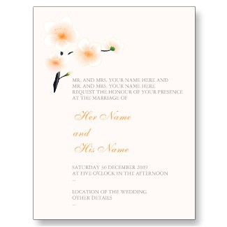 Flowers & Decor, Stationery, orange, invitation, Invitations, Flowers, Bridal Shower, Save the date, Wedding, Custom, Unique, Elegant, Card, Wedding invitation, Exquisite, Ruxique
