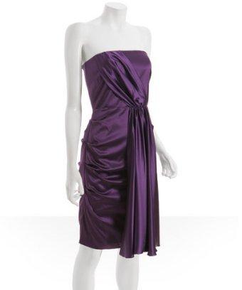 Bridesmaids Dresses, Wedding Dresses, Fashion, purple, dress, Bridesmaid, Grape, Satin, Bluefly, satin wedding dresses