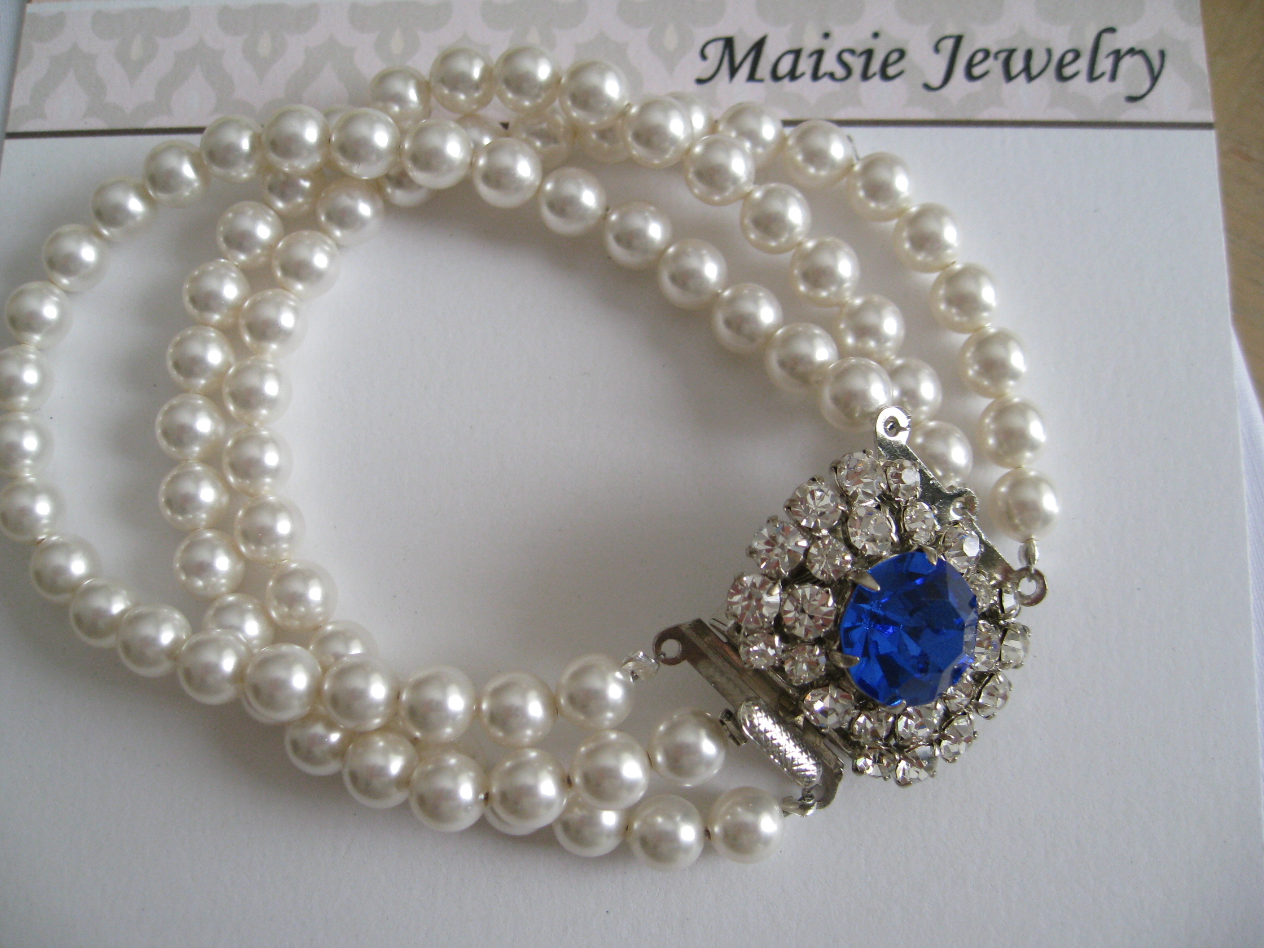 Jewelry, blue, Bracelets, Pearls, Bracelet, Something, Multi, Maisie, Strands