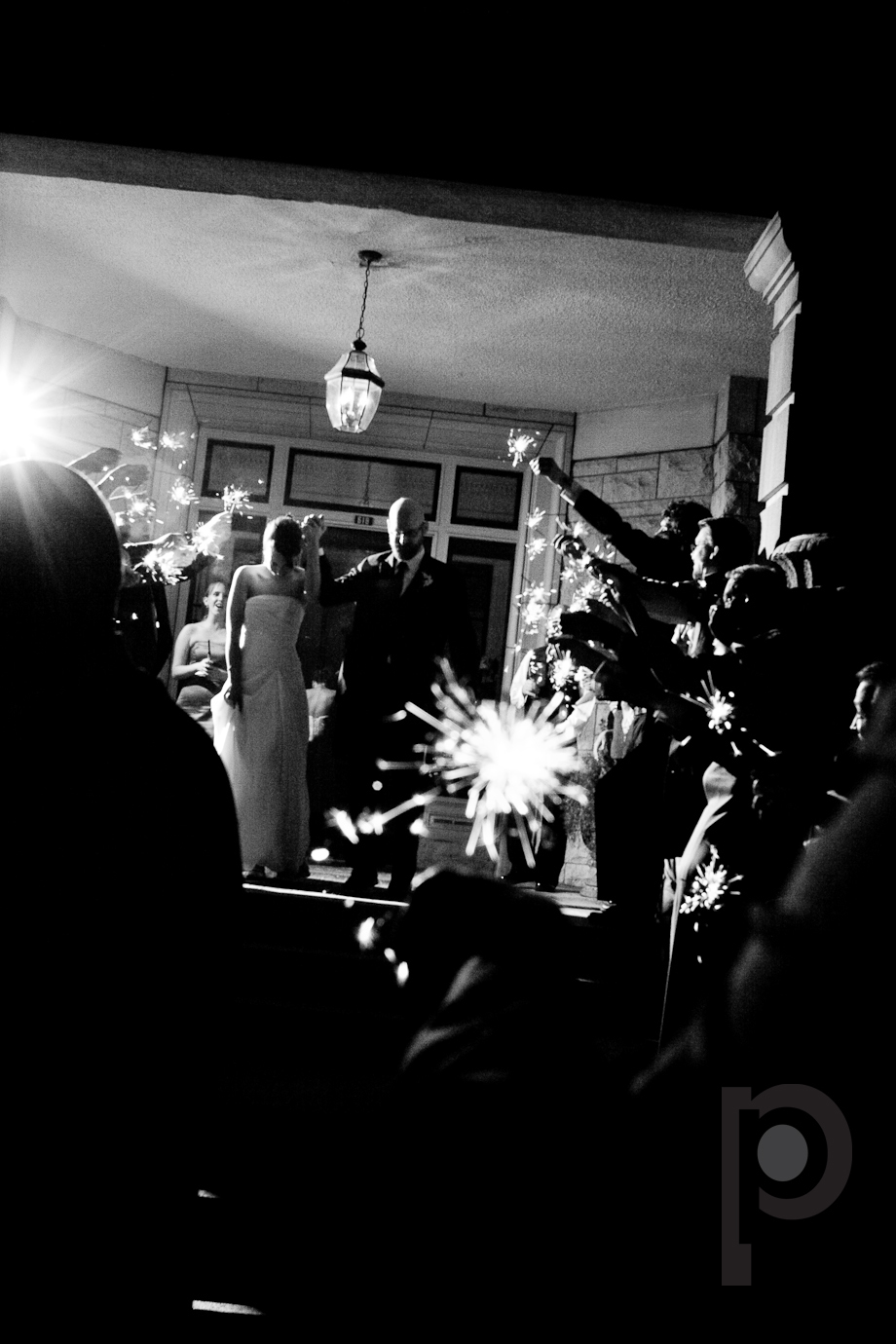 Reception, Flowers & Decor, Sparklers, Exit, Night, Phipps photo