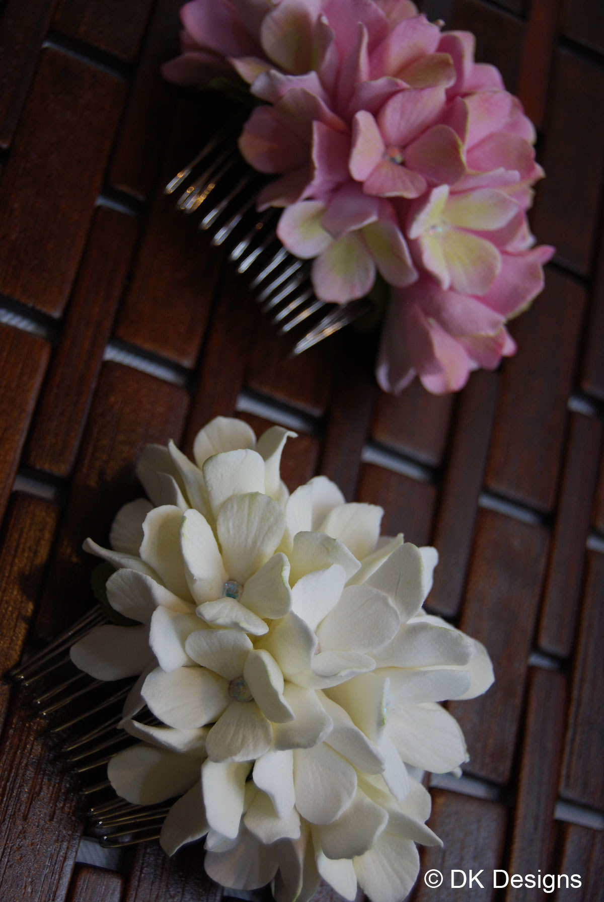 Beauty, Flowers & Decor, Comb, Accessories, Flowers, Party, Hair, Bridal, For, Combs, Clay, Dk designs