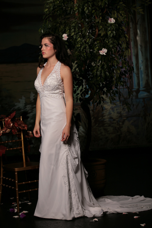 white, Gown, Wedding, Beading, Chiffon, Nika tang