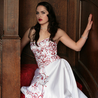 Wedding Dresses, Fashion, red, dress, Gown, Wedding, Embroidery, Nika tang