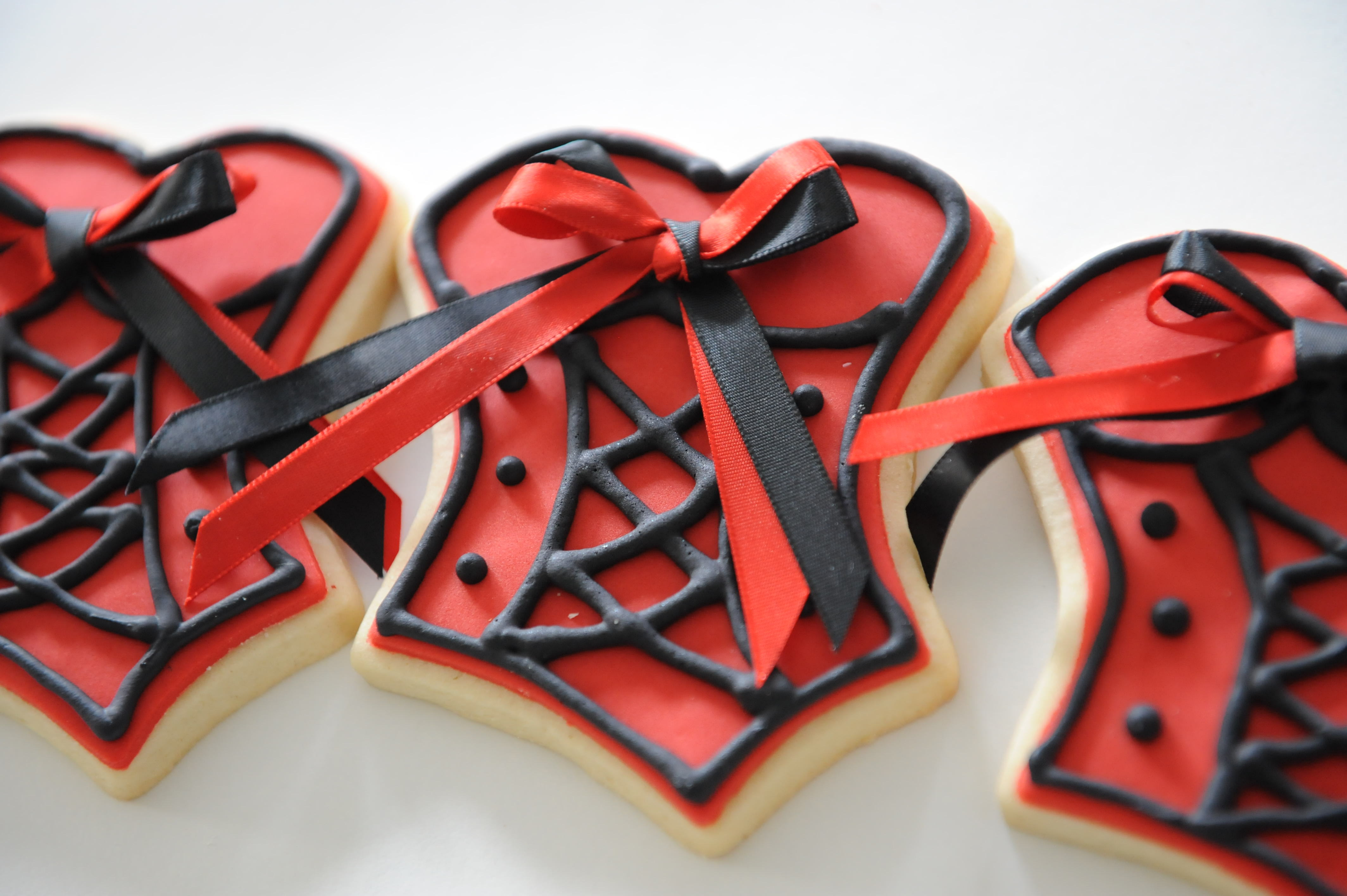 Favors & Gifts, Favors, Cookie, Sensibly sweet, Red corset